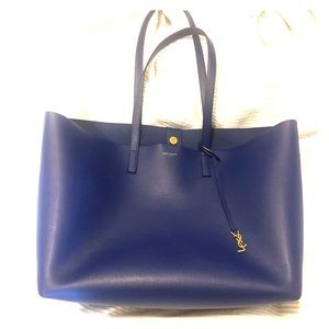 YSL shopping bag tote - BLUE